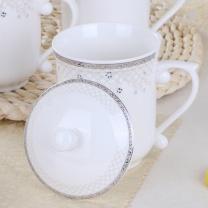 敏杨 陶瓷茶杯 网路情缘7号 口径8.5cm高14cm 390ml  48个/箱 (10个起订)