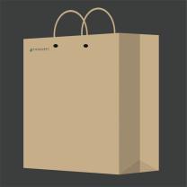 国产进口加厚牛皮纸袋 28*38*10cm 190g