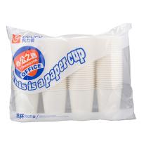 科力普 COLIPU 办公之选 一次性经济白纸杯 9盎司 250ml (白色) 100只/包 10包/箱