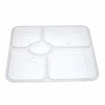 坚尔美 Jem 一次性饭盒 五格盒 容量1100ml (透明) 26*21*4cm  120套/箱