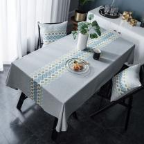 梦蜓 桌布 MT04-3  桌布隔热餐桌布棉麻简约小清新桌布