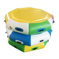 舒德牧 同心鼓+活力球套装  直径1.2米6个把手 绳子+球 户外齐心鼓趣味运动道具充气雷霆战鼓拓展游戏