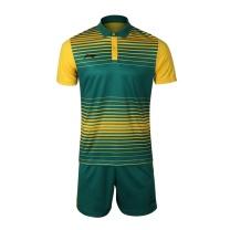 李宁 LI-NING 足球比赛套装 AATL097-3 S-XL码 (青椒绿+耀黄色)