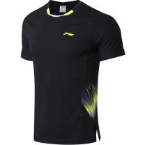 李宁 LI-NING 羽毛球比赛套装 AAYN261-2+AKSN721 S-XXXL码 (黑色)