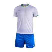 李宁 LI-NING 足球比赛套装 AATL103-1 S-XL码 (标准白+晶蓝色)