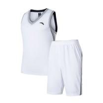 安踏 篮球比赛服套装 15831203-1 S-3XL码 (纯净白)