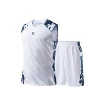 安踏 篮球比赛服套装 15921201-2 XS-4XL码 (纯净白/明月蓝)