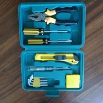 国产 应急工具套装  卷尺/内六角扳手/测电笔/美工刀/钢丝钳/手柄/两用螺丝刀 便携式