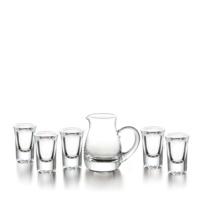 幸福时刻 玻璃七件套 BJ-032  分酒器160ML1个 酒盅20ML6个