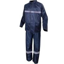 代尔塔 DEITAPLUS 反光条防护服劳保分体雨衣 407004 XL