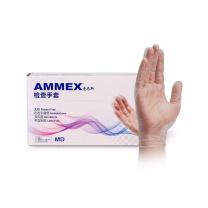 爱马斯 AMMEX 一次性PVC手套 GPX3C46100 L号  100只/盒 (新老包装交替发货)