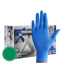 爱马斯 AMMEX 丁腈橡胶一次性防护手套 L 100只/盒 (深蓝色)