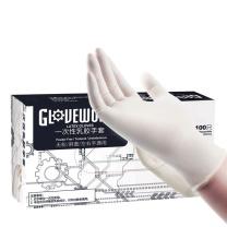爱马斯 AMMEX 一次性乳胶无粉手套 TLFGWC46100 L  100只/盒