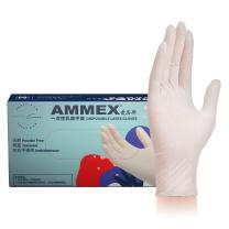 爱马斯 AMMEX 一次性乳胶手套 TLFT46100 L  100只/盒