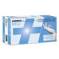 爱马斯 AMMEX AMMEX 一次性白色丁腈手套 APFWCMD46100 L  100只/盒