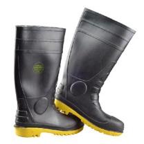 莱尔 SL-2-91 42码 身黑黄底防砸防刺穿耐酸碱雨靴 (单位:双)