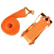 伏兴 固定捆绑带棘轮拉紧器 汽车牵引拖车绳 宽38mm*4米