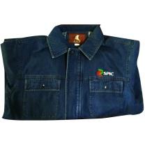 祥和鸟 牛仔工作服 S /M/L/XL/2XL/3XL/4XL (蓝色) 春秋装、含印字及LOGO