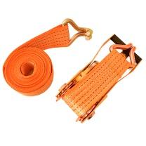 伏兴 固定捆绑带棘轮拉紧器 汽车牵引拖车绳 宽25mm*2米