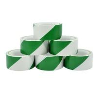 赛拓 斑马警示胶带 2019 绿白4.8cm*18Y-6卷装