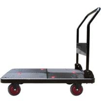 君宏 单层150公斤橡胶轮折叠扶手推车 JH150-DX-BK 720*480*860MM 承重:150KG (黑色)