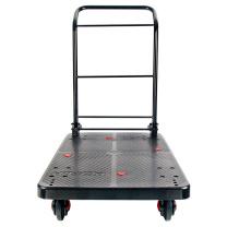 连和 超静手推车 PLA300-DX 900*600*890MM (黑色) 尼龙支架天然橡胶轮 承重:300KG(不含运费)
