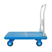 连和 单层中静折叠扶手手推车 PLA400Y-DX 1355*650*890MM (蓝色) 铁支架天然橡胶轮 承重:400KG(不含运费)