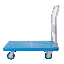 连和 折叠式扶手单层平板车 PLA200Y-DX 825*500*890MM (蓝色) 铁支架天然橡胶轮 承重:(200KG不含运费)
