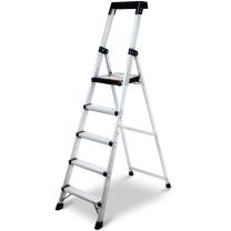 稳耐 铝合金五步单侧平台梯 P275CN 180*50*104cm (银色) 1台/包