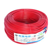 熊猫 铜芯线 单股多芯软线 BVR6平方 (红色)
