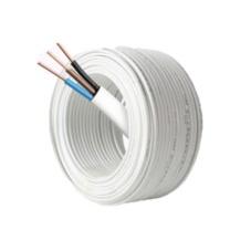 正泰 铜芯聚氯乙烯绝缘聚氯乙烯护套扁形电线 BVVB 3*4 100米/盘 (白色)