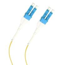 欧博 光纤跳线 OPTLULURA124LYE50P 50米 LC单管双芯单模G657A1抗弯曲光纤跳线 LSZH