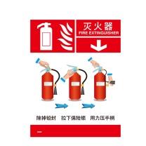 安赛瑞 消防设备使用步骤标识(灭火器)3M不干胶 20413 20×26cm