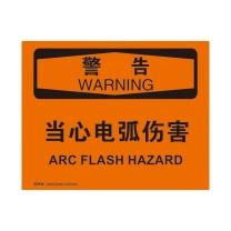 安赛瑞 OSHA安全标识(警告-当心电弧伤害) 塑料板 31669 250×315mm