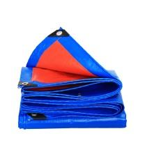 安赛瑞 订制加厚防雨布 PE材质 12442 厚0.35mm 重180g/m² (蓝桔) (30m²起订)