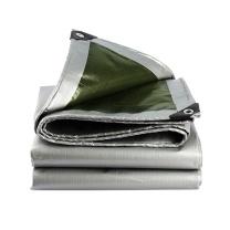 安赛瑞 订制加厚防雨布 12444 PE聚乙烯 厚0.35mm 重180g/m² (银白) (30m²起订)