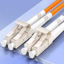 山泽 SAMZHE 电信级光纤跳线 LC-LC多模双芯 收发器尾纤 G2-LCLC03 3米