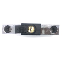 伏兴 双开玻璃门锁 加粗U型锁 FX211 锁定范围:225-305mm