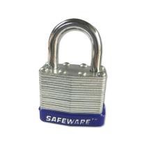 安赛瑞 钢制千层安全挂锁 14707 钢制锁梁Φ6×25mm 钢制锁体 (蓝) (标配2把钥匙)