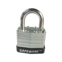 安赛瑞 钢制千层安全挂锁 14709 钢制锁梁Φ6×25mm 钢制锁体 (黑) (标配2把钥匙)
