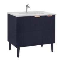 摩恩 浴室柜组合 BC3005-102BL 900*565*850mm(单孔) (深邃蓝) 夏格系列 材质:防潮复合板 偏远地区:新疆、西藏、内蒙古等不可用