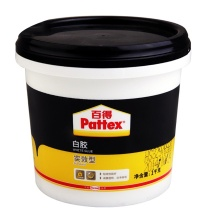 汉高百得 Pattex 白胶 木工白胶 白乳胶 手工胶 PXWG1SD 1kg  粘接力好 成膜透明 实效型