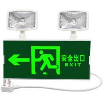 百士安 新国标消防应急LED指示灯 标志灯充电安全出口指示灯LED照明双头灯一体楼层应急疏散灯 安全出口(向左)