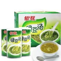 银鹭 绿豆汤 绿豆粥 夏季消暑解渴饮品 370g*12罐/箱