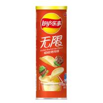 乐事 无限薯片 104g/罐  24罐/箱 (嗞嗞烤肉味24罐/箱)