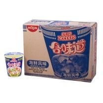 日清 NISSIN 合味道 速食面 84g/杯 12杯/箱  (海鲜风味)