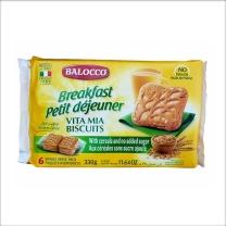 百乐可 我的生活 谷物高纤维脆饼干(不加糖)独立小包装 6小包/袋,330g/袋,10袋/箱