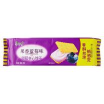 康师傅 Master Kong 甜酥夹心饼干 80g/袋  24包/箱 (果香蓝莓味)