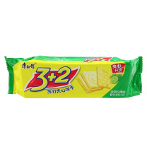 康师傅 Master Kong 3+2 苏打夹心饼干 125g/袋  (清新柠檬味)