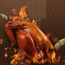 维尔康 五香熏鸡 520g  正宗手撕烧鸡五香鸡烤鸡